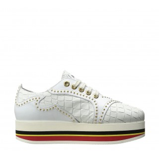 Just Cavalli white flatform brogues