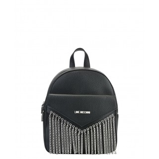 Love Moschino leather backpack with chains