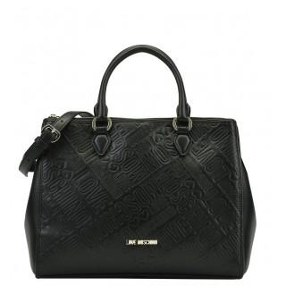 Love Moschino black bag logo embossed