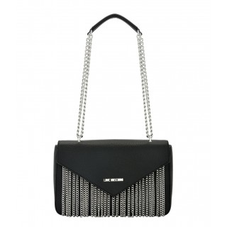 Love Moschino black bag with chains