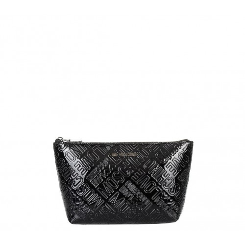 Love Moschino patent leather pouch
