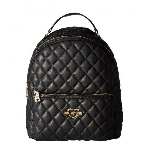 Love Moschino black quilted backpack