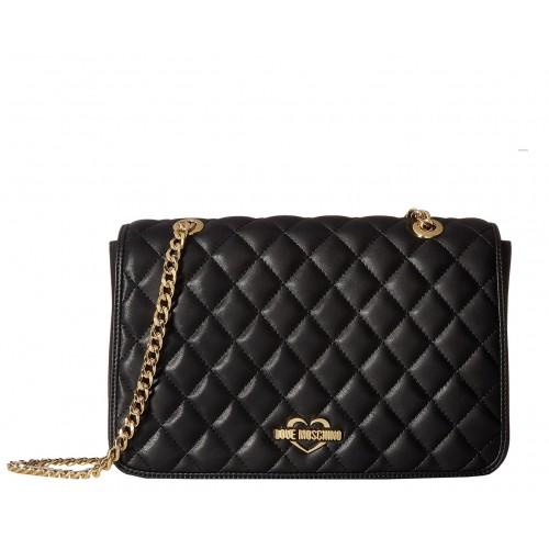 Love Moschino black quilted handbag