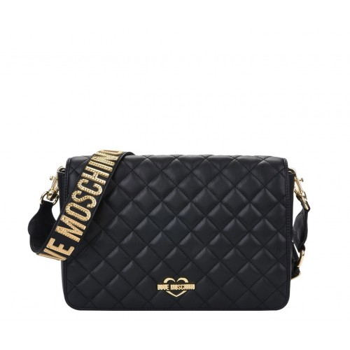 Love Moschino black quilted bag with shoulder strap