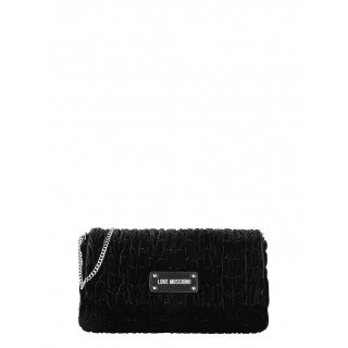 Love Moschino black velvet bag