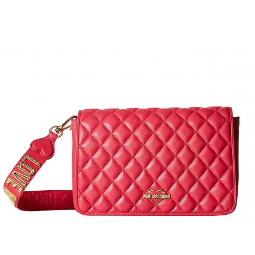 Love Moschino fuchsia quilted bag