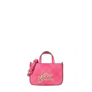 Love Moschino fuchsia cross-body bag
