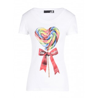 Love Moschino T-shirt with lollipop print