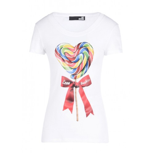 Love Moschino T-shirt with lollipop print