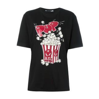 Love Moschino popcorn black T-shirt