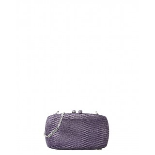 Love Moschino purple clutch
