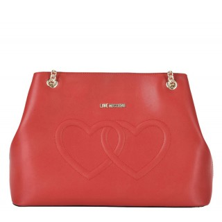 Love Moschino red bag with hearts