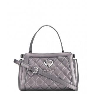 Love Moschino silver tote bag