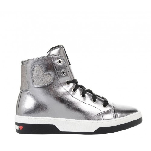 Love Moschino silver shoes