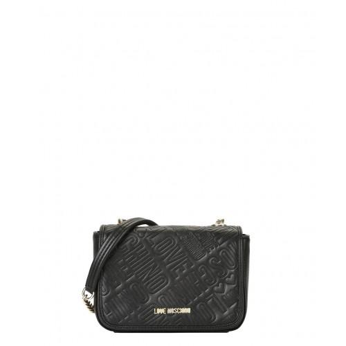 Love Moschino small black bag logo embossed