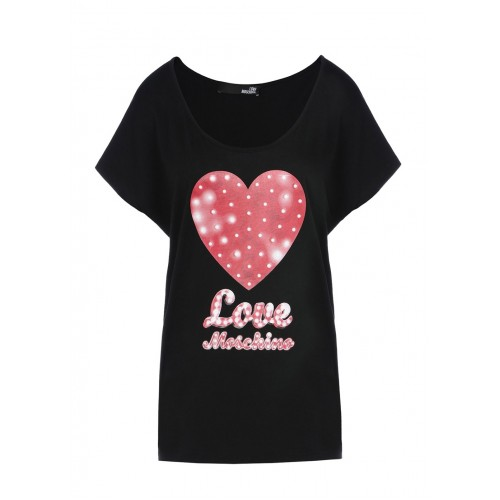 Love Moschino T-shirt with heart