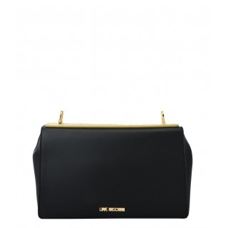 Love Moschino black bag with golden plate