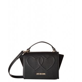 Love Moschino small black bag with hearts