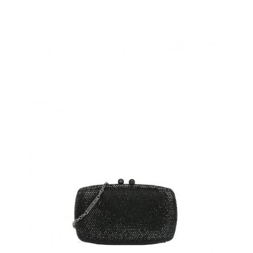 Love Moschino black clutch