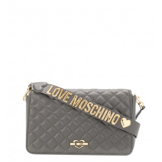 Love Moschino gray quilted bag