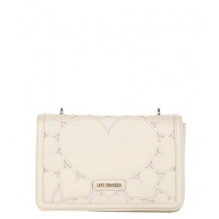 Love Moschino ivory bag with hearts