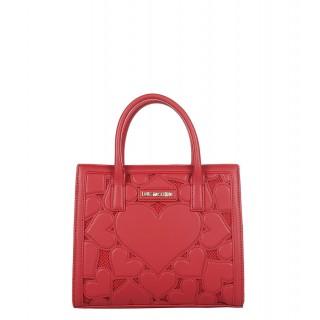 Love Moschino red handbag with hearts