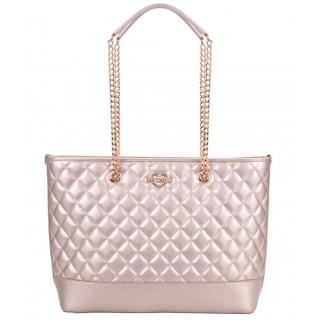 Love Moschino Rose-Gold Shopping Bag