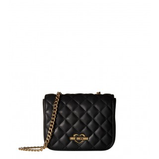 Love Moschino small quilted black bag