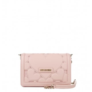Love Moschino small pink bag with hearts