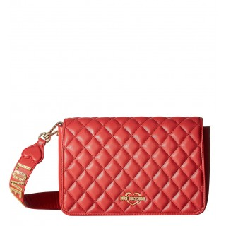 Love Moschino red quilted bag with shoulder strap