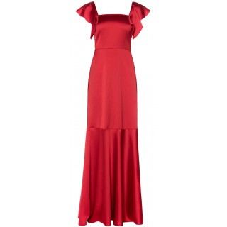 MI-RO maxi red satin dress
