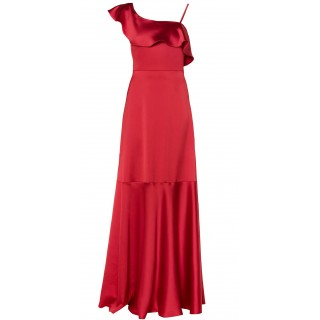MI-RO red one-shoulder maxi dress